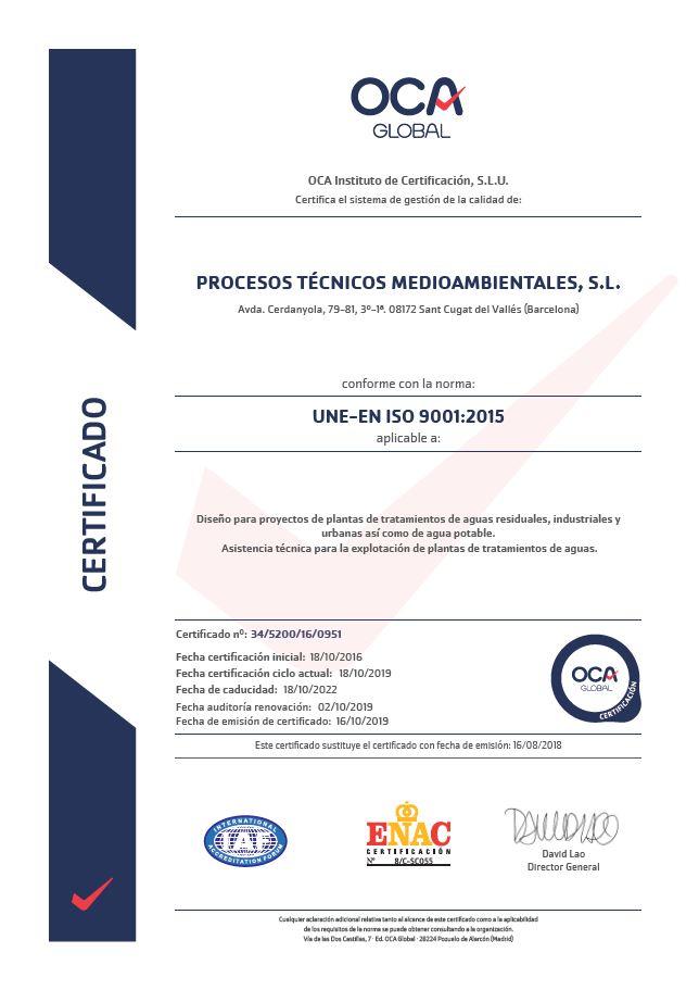 UNE.EN ISO 9001.2015 2019-2022